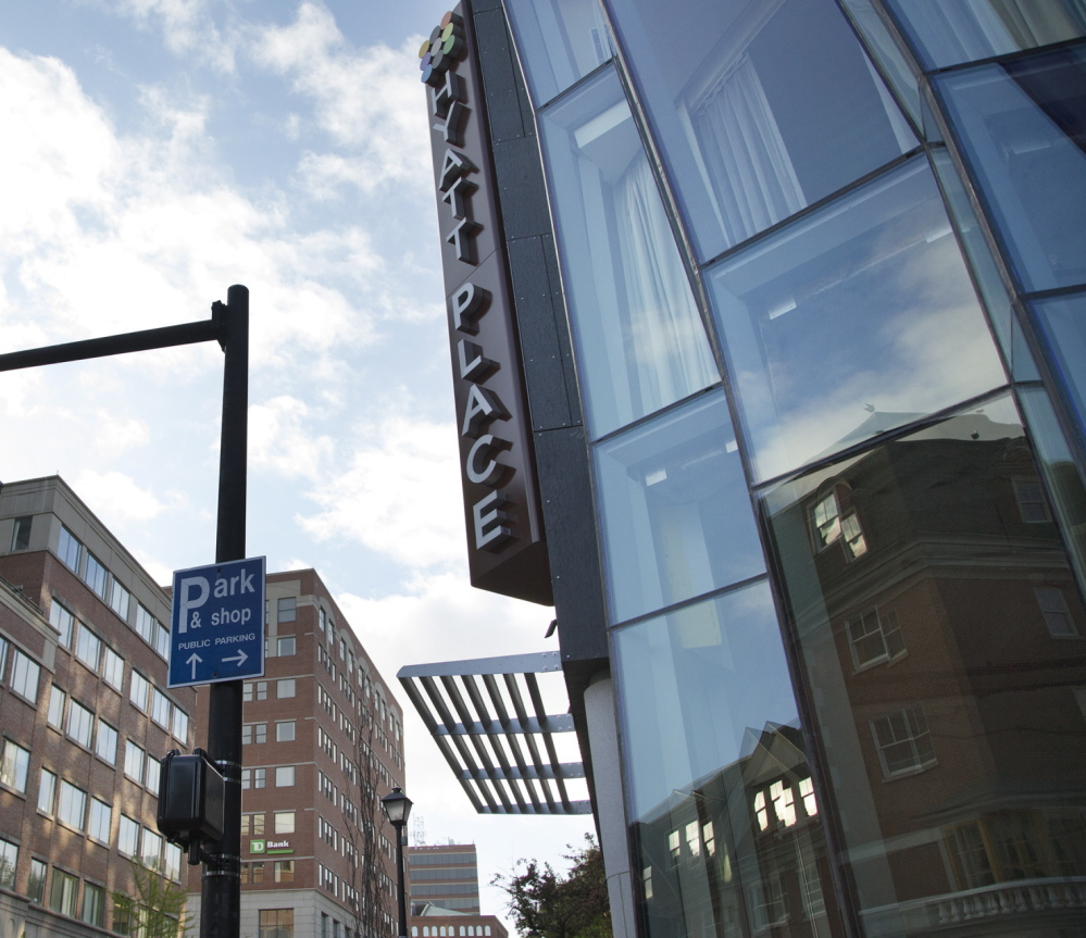 Hyatt Place Portland-Old Port, which opened in late May on Fore Street, added 130 rooms to the market. Competition for bookings is expected to intensify as the tourist season builds this summer. Yoon S. Byun/Staff Photographer
