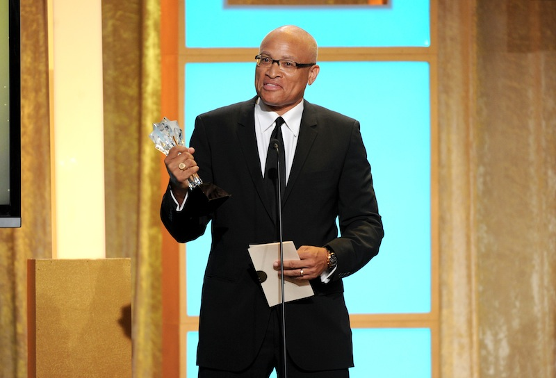 Larry Wilmore accepts the best talk show award for