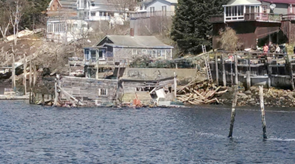 A private pier collapsed at Bay Point in Georgetown, the U.S. Coast Guard said Wednesday, but no one was injured.
