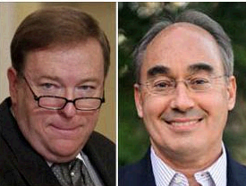 Kevin Raye, left, and Bruce Poliquin