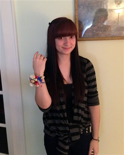 Talia Maselli poses at her home in Newington, Conn. with a wrist corsage sent to her by Vice President Joe Biden. Photo provided by the Maselli Family. Maselli didn't end up going to the prom.