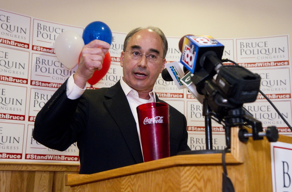 Bruce Poliquin makes his victory speech at Dysarts Broadway in Bangor. Carl D. Walsh/Staff Photographer