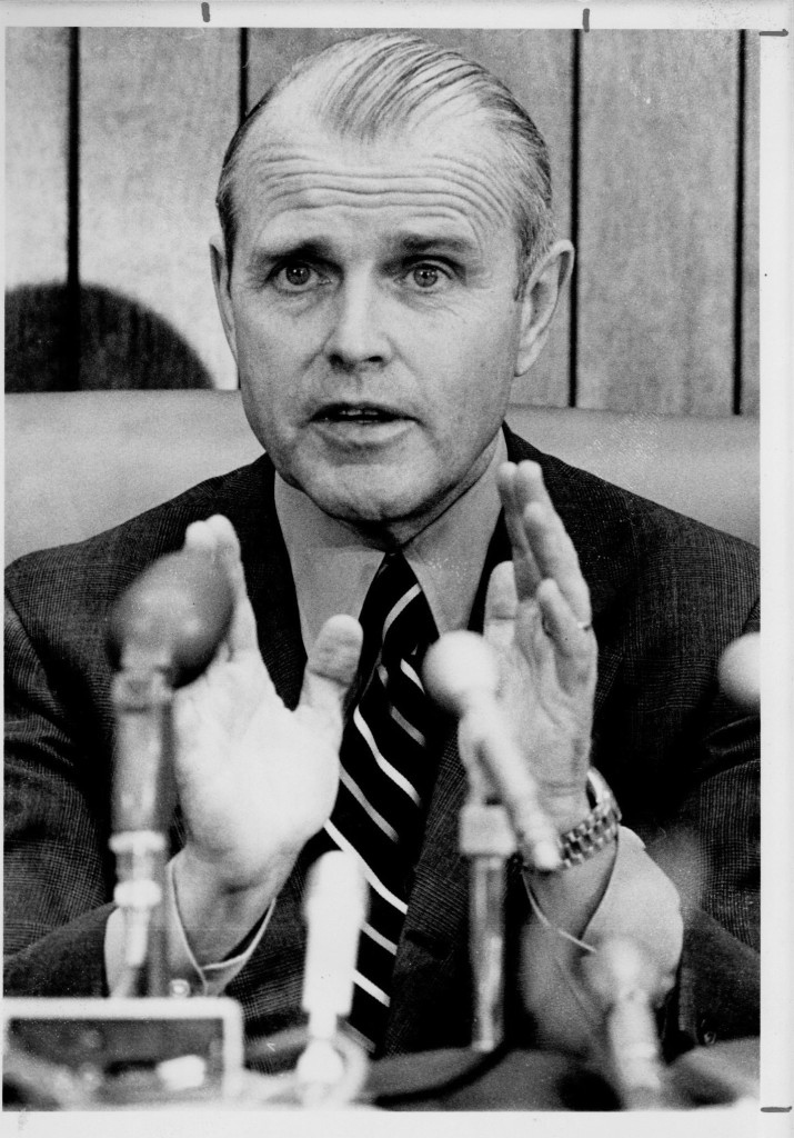 Maine Governor James B. Longley. Press Herald file photo published in 1977