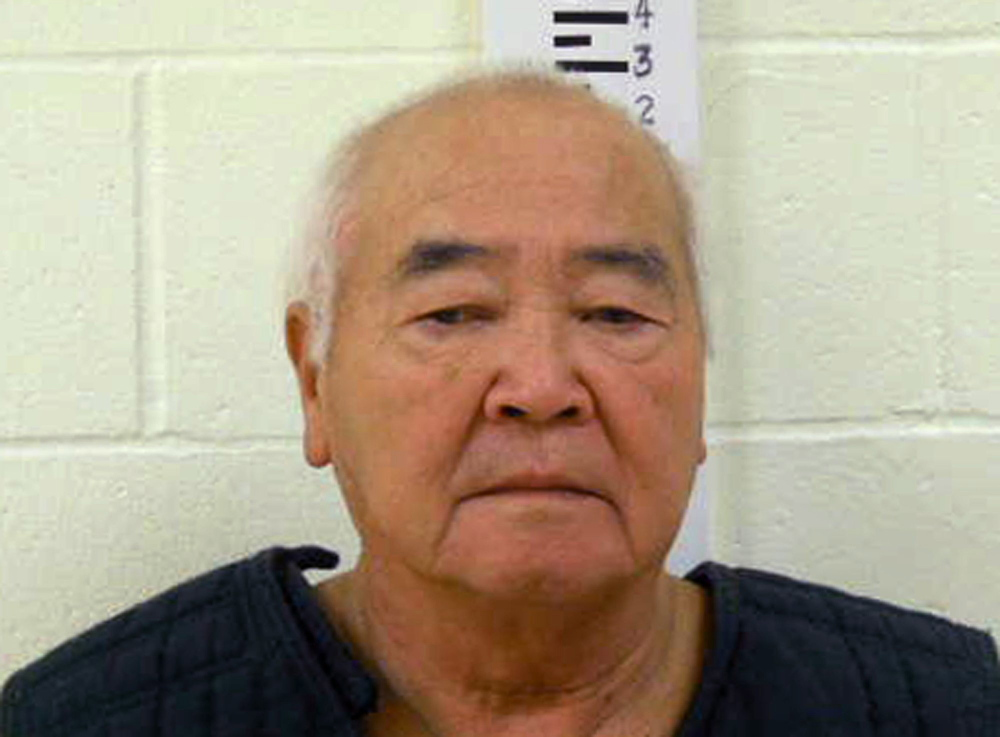 The Associated Press An undated booking photo provided by York County Jail of James Pak, 74, of Biddeford, who faces charges in the shooting deaths of two of his tenants.