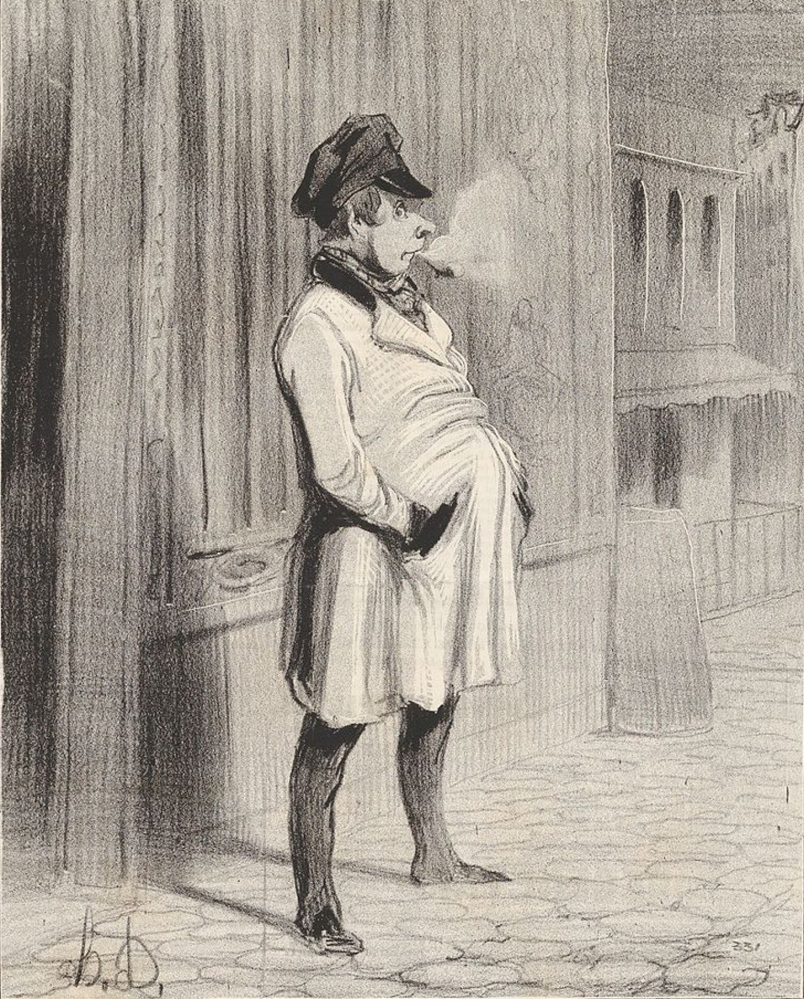 "Paid applause is a custom that goes back centuries. In France, a group of professional applauders came to be known as a claque, and a member of the group was a claqueur. ""Le Claqueur"" was drawn by the French artist Honoré Daumier in 1842. Courtesy photo"
