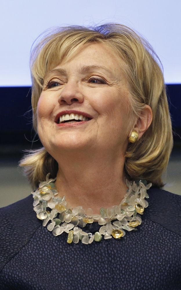"""Hillary Clinton said in an interview with ABC News on Sunday that she will decide whether to run for president again """"when it feels right for me to decide."""" The Associated Press"""