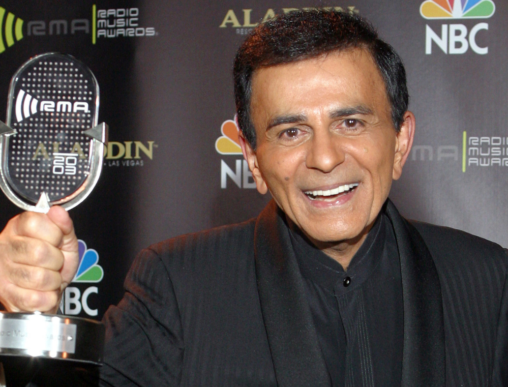 Casey Kasem poses for photographers after receiving the Radio Icon award during the 2003 Radio Music Awards in Las Vegas. The Associated Press