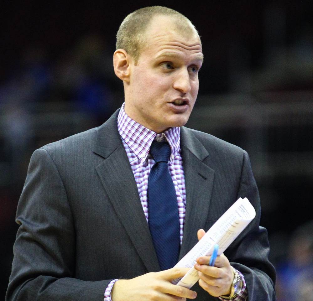 Zak Boisvert was cut from the Deering High boys' basketball team as a junior. Since then, he has devoted much of his life to coaching and was recently named an assistant coach for the UMaine men's basketball team. Photo courtesy of the University of Maine