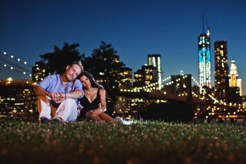 This 2013 photo shows Kristain and Anzalee Rhodes at Brooklyn Bridge Park in New York. Anzalee was eight months pregnant in the picture.