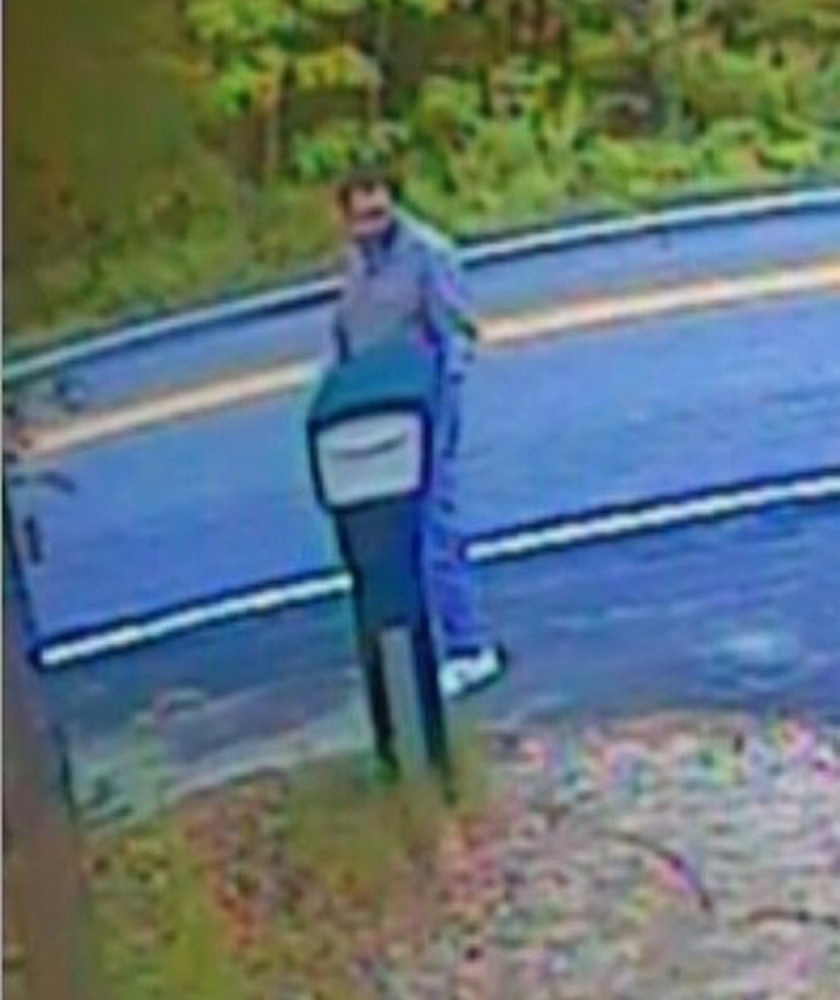 A homeowner's surveillance image allegedly shows suspect Robert C. Simkowitz.