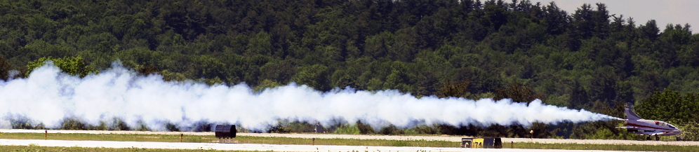 Peter Reny takes off Monday from Augusta State Airport. The microjet can fly at 350 mph and do aerobatic maneuvers.