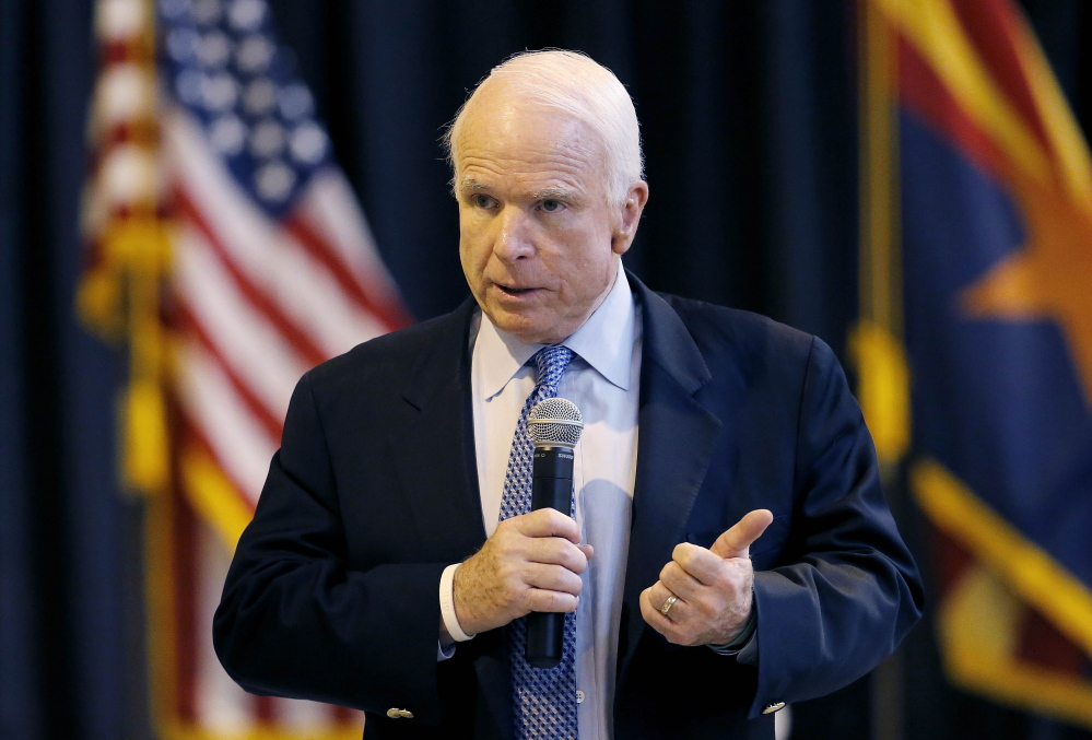 """Make no mistake: This is an emergency,"" was Sen. John McCain's admonition Wednesday to colleagues who argued against a $35 billion proposal to help vets get medical care."