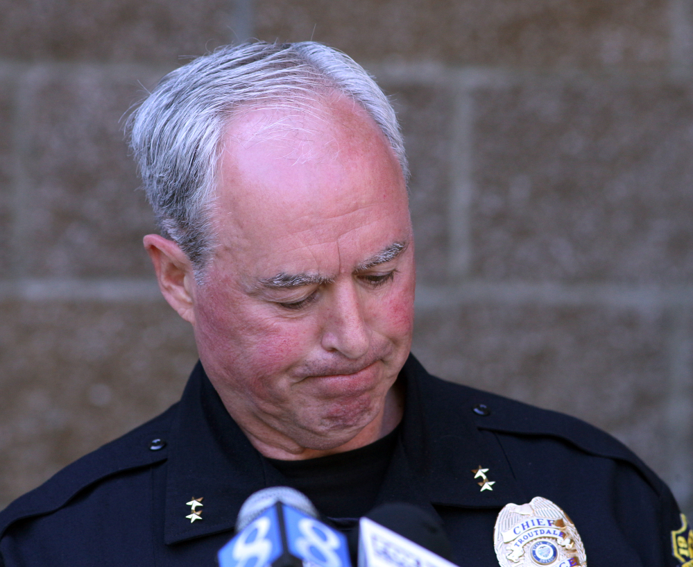 Troutdale, Ore., Police Chief Scott Anderson gives details Wednesday about Tuesday's shooting at a local high school.