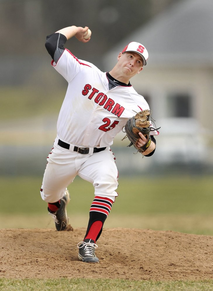 Scarborough's Ben Greenberg took home the SMAA most valuable player honor and is a finalist for the Mr. Baseball award.