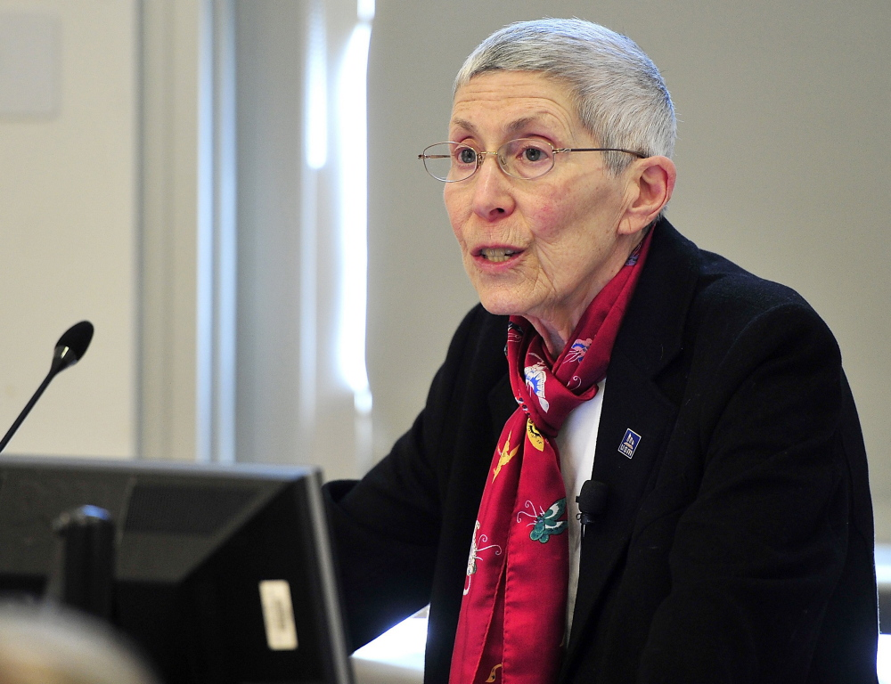 """University of Southern Maine President Theodora Kalikow said Friday, """"We can't do everything we are used to doing."""""""