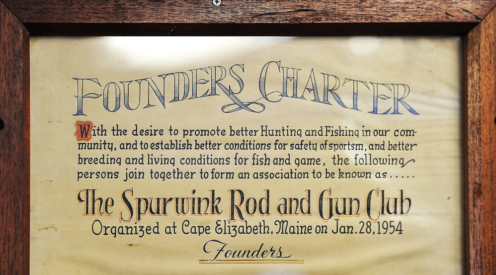 The Spurwink Rod & Gun Club  was founded in 1954, long before realtors developed high end housing on the perimeter of the hundred acre buffer.