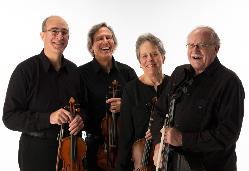 The Portland String Quartet is, from left, Dean Stein, Ronald Lantz, Julia Adams and Paul Ross.