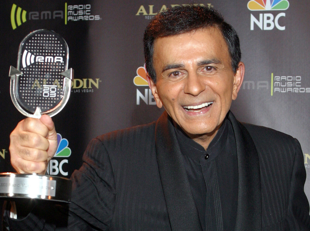 Casey Kasem poses for photographers in October 2003 after receiving the Radio Icon award during The 2003 Radio Music Awards in Las Vegas.