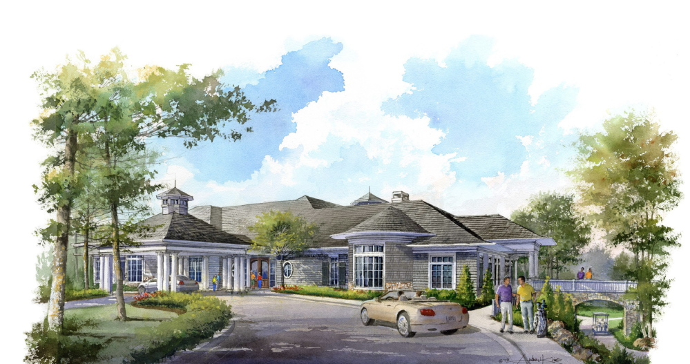 A rendering shows the clubhouse that is planned for the country club.
