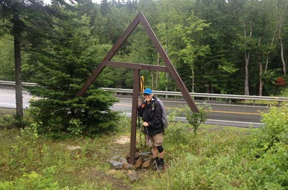This photo of Geraldine Largay was taken July 20, 2013, two days before she disappeared, at the Appalachian Trail's intersection with Route 4 in Sandy River Plantation. A compass was found with Largay's belongings at the campsite she fashioned while she was lost, but she reportedly didn't know how to use it.