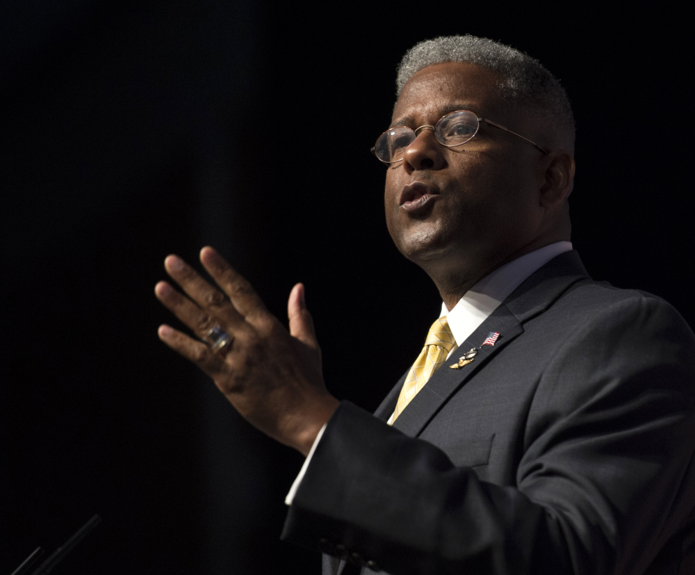 Former Florida Rep. Allen West was also a speaker at the faith conference Thursday. Republicans are looking to mobilize evangelical Christians, who are a sizable voting bloc, ahead of the elections this November and in 2016.