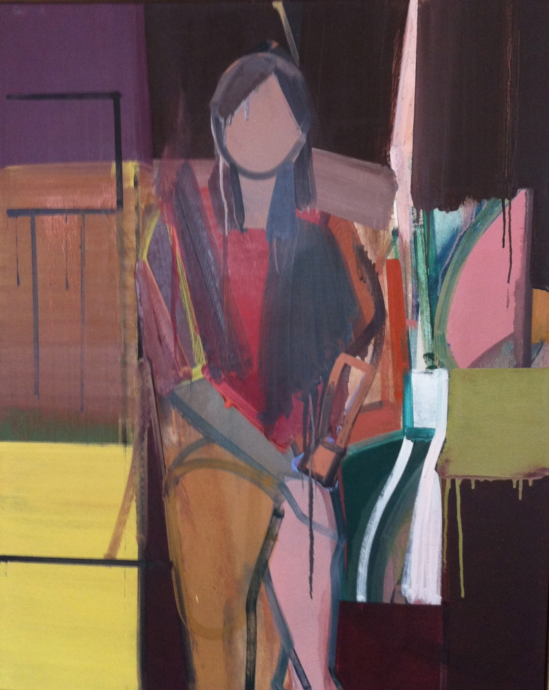 """""""Composition with Seated Figure,"""" 1973."""