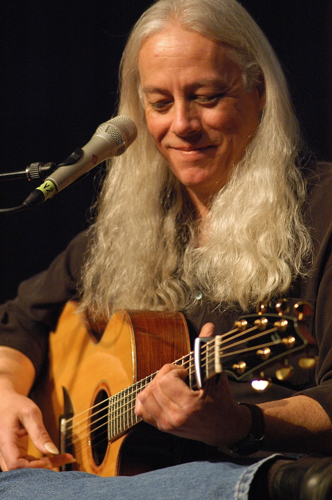 Grammy-winning guitarist Ed Gerhard performs at the St. Lawrence Arts Center in Portland on Saturday.