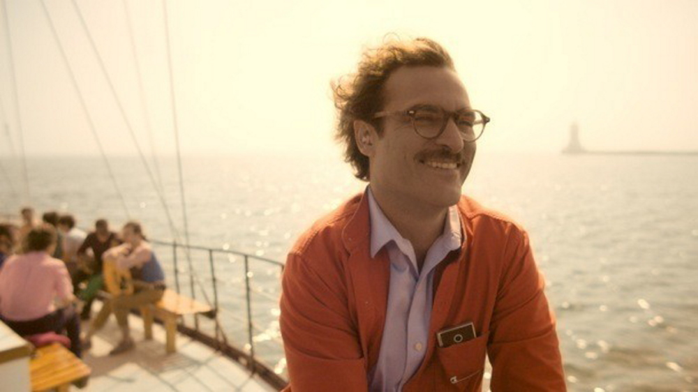 """Joaquin Phoenix stars in """"Her,"""" the June 29 offering in the York Public Library's Film Series."""
