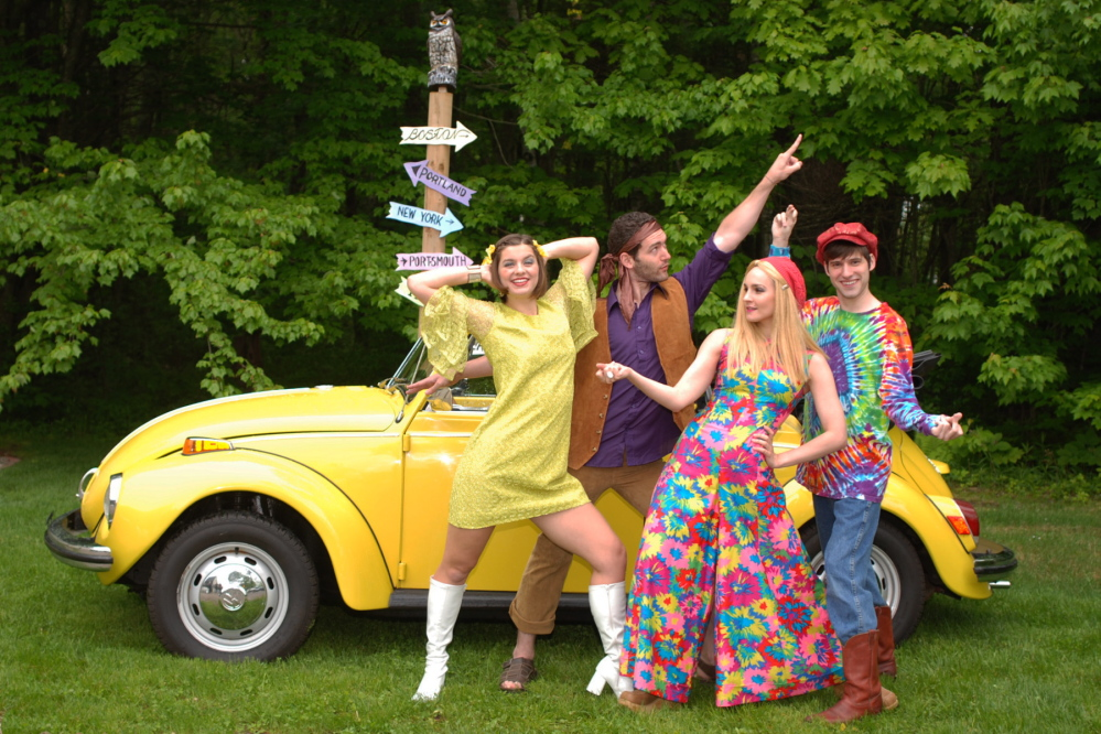 """""""8 Track: The Sounds of the 70s,"""" a musical featuring the hits of The Carpenters, Barry Manilow, The Doobie Brothers, The Bee Gees, Helen Reddy, KC, LaBelle and more, continues this week at the Arundel Barn Playhouse."""