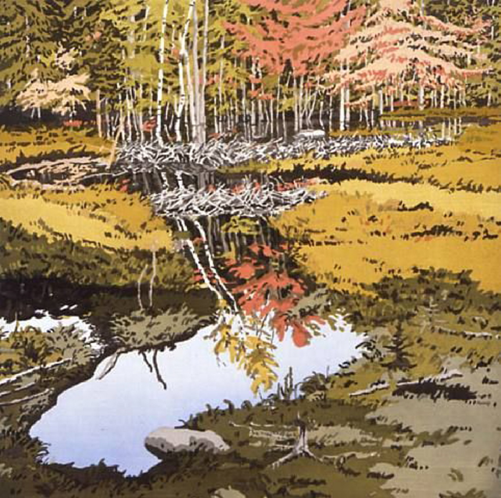 "Neil Welliver's ""Study for New Dams in Meadow."" Courtesy photo"