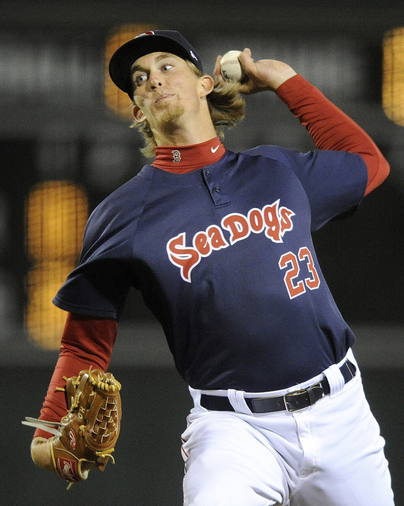 Henry Owens continued his dominant season Friday night for the Portland Sea Dogs, pitching a five-hit shutout in a seven-inning game to improve his earned-run average to 1.99.