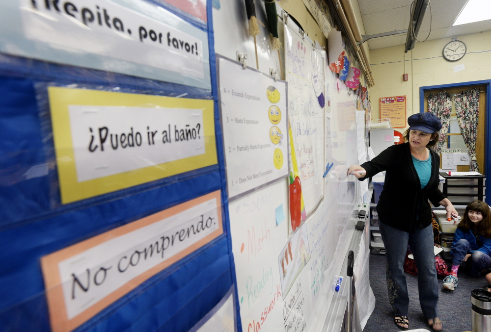 Robin Stevens teaches Spanish at Lyseth Elementary School in Portland. The school presently offers some instruction in the language but in September it will launch a full Spanish language immersion program with 20 kindergartners participating.