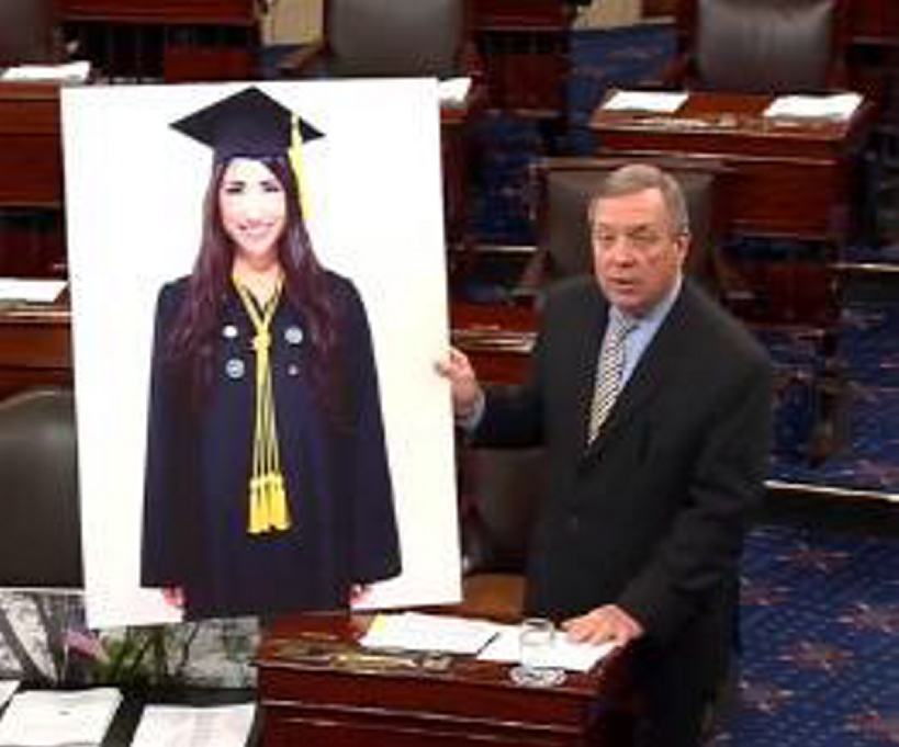 In 2012, Sen. Dick Durbin cites one of Ralph Carmona's students as an example of what an undocumented immigrant can accomplish.