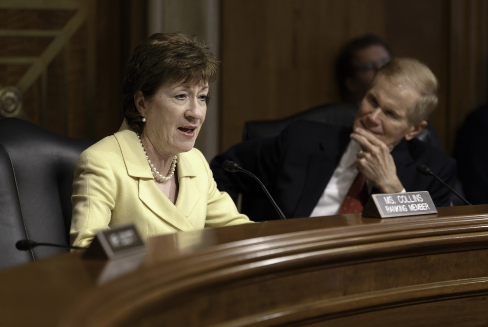 "In a written statement Wednesday, Sen. Susan Collins said: ""A number of states, including my home state of Maine, have now legalized same-sex marriage, and I agree with that decision."""