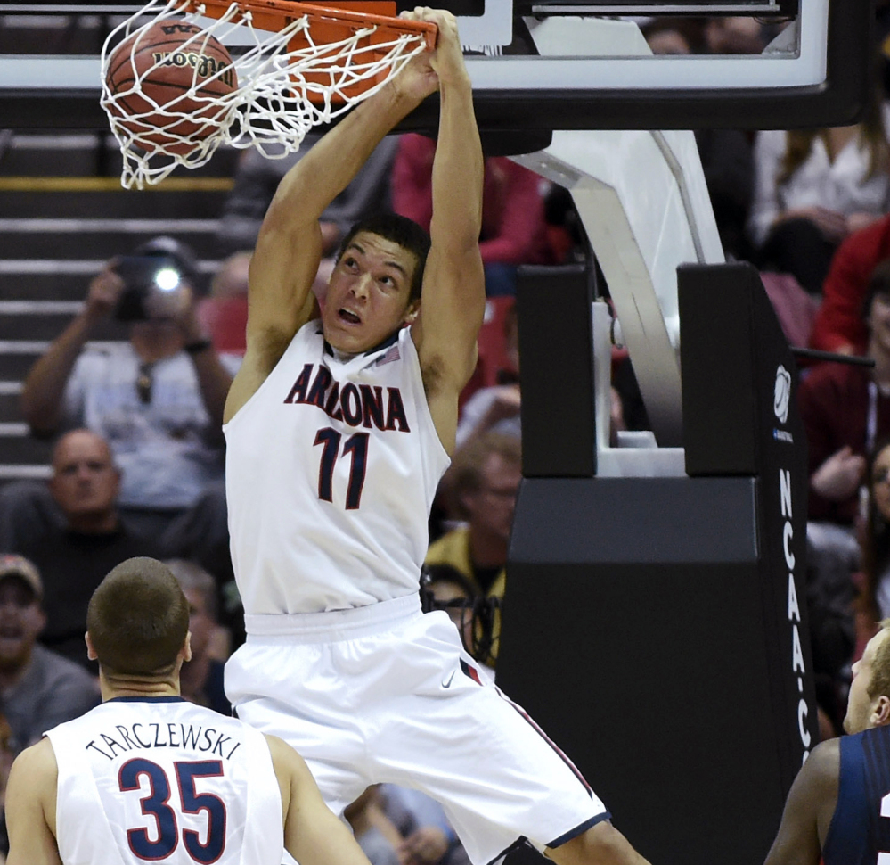 Arizona forward Aaron Gordon should be available for the Celtics' first pick in the 2014 NBA Draft on Thursday in New York. File Photo/The Associated Press