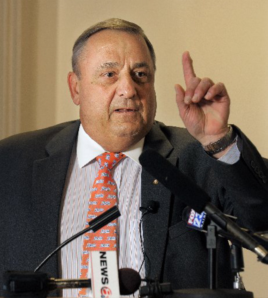 A day after issuing a statement that equated Social Security with welfare, Gov. LePage said Thursday he doesn't actually believe that.