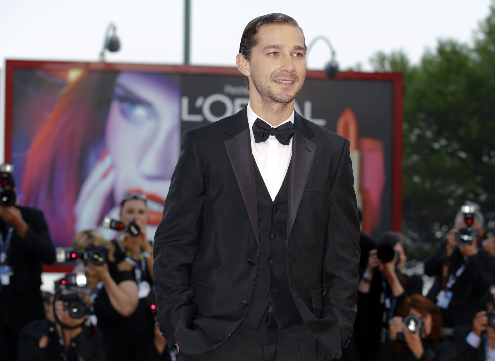 """Shia LeBeouf: Last year he came under fire for borrowing the storyline and dialogue for his short film, """"Howard Cantour.com,"""" from the 2007 graphic novel """"The Death-Ray"""" by Daniel Clowes."""