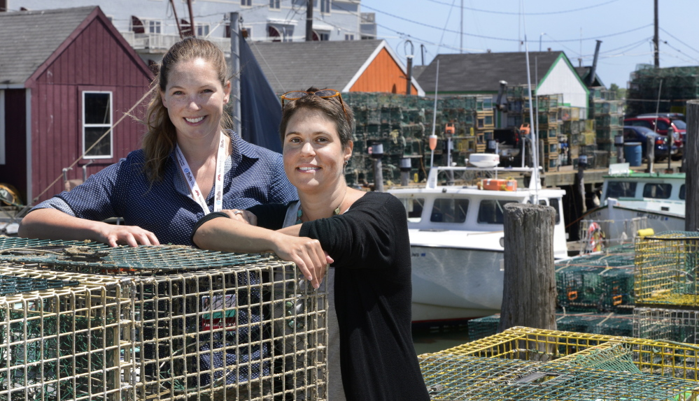 John Patriquin/Staff Photographer Tufts medical student Miranda Rogers and Dr. Tania Strout of Maine Medical Center are working on a survey to assess the health needs of Maine's fishermen, with the goal of setting up a waterfront mobile clinic.