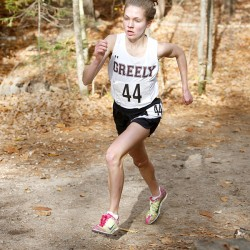 Girls' Cross Country: Kirstin Sandreuter from Greely High School.