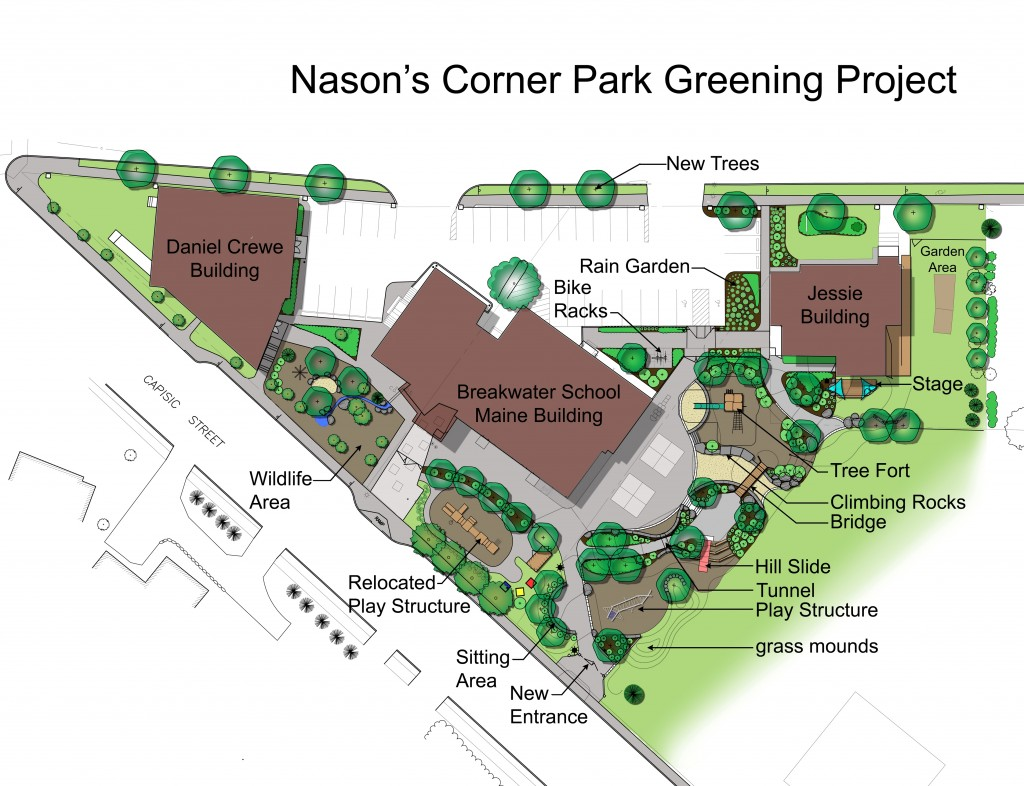 The Nason's Corner Park Project has dual environmental and community development goals.