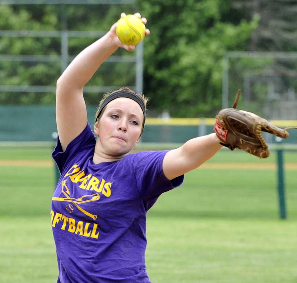 Brittany Bell has pitched every inning for Cheverus and is also the top hitter. John Patriquin/Staff Photographer