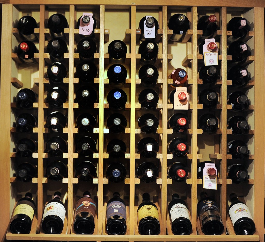 A private wine cellar.