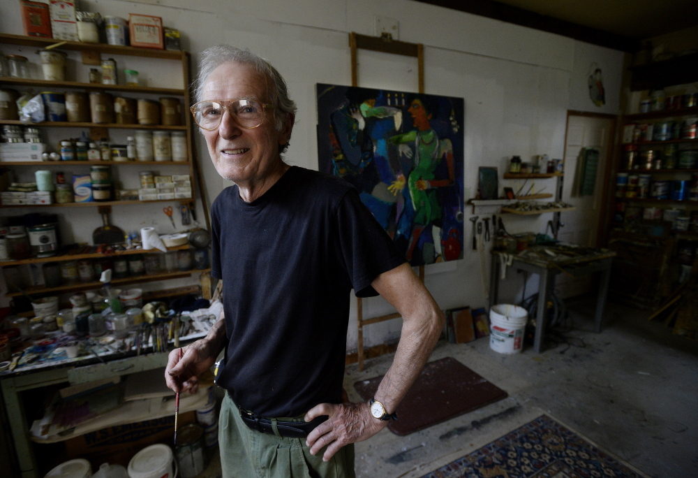 "Richard Brown Lethem in his Berwick studio. Ogunquit Museum director Ron Crusan describes the Lethem show as a ""nod to a local artist who should have national status."" Shawn Patrick Ouellette/Staff Photographer"