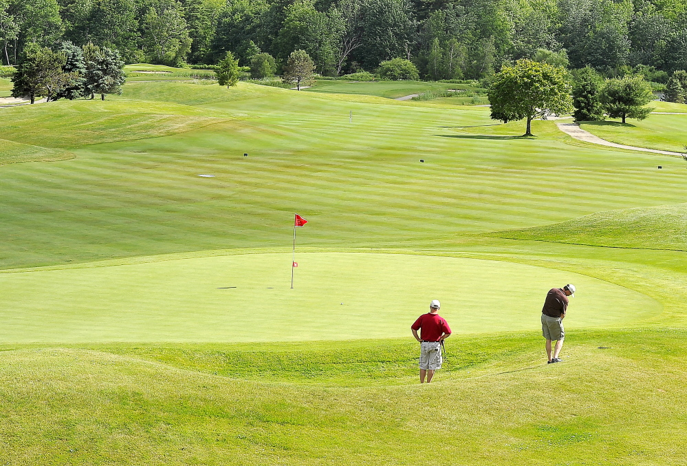 The ninth hole at Nonesuch River Golf Course in Scarborough, as well as the 18th, are great finishing holes. The ninth, a par 4, measures 435 yards. The tees and fairways are in great condition on the course, which like other courses in southern Maine, had to make it through a harsh winter.