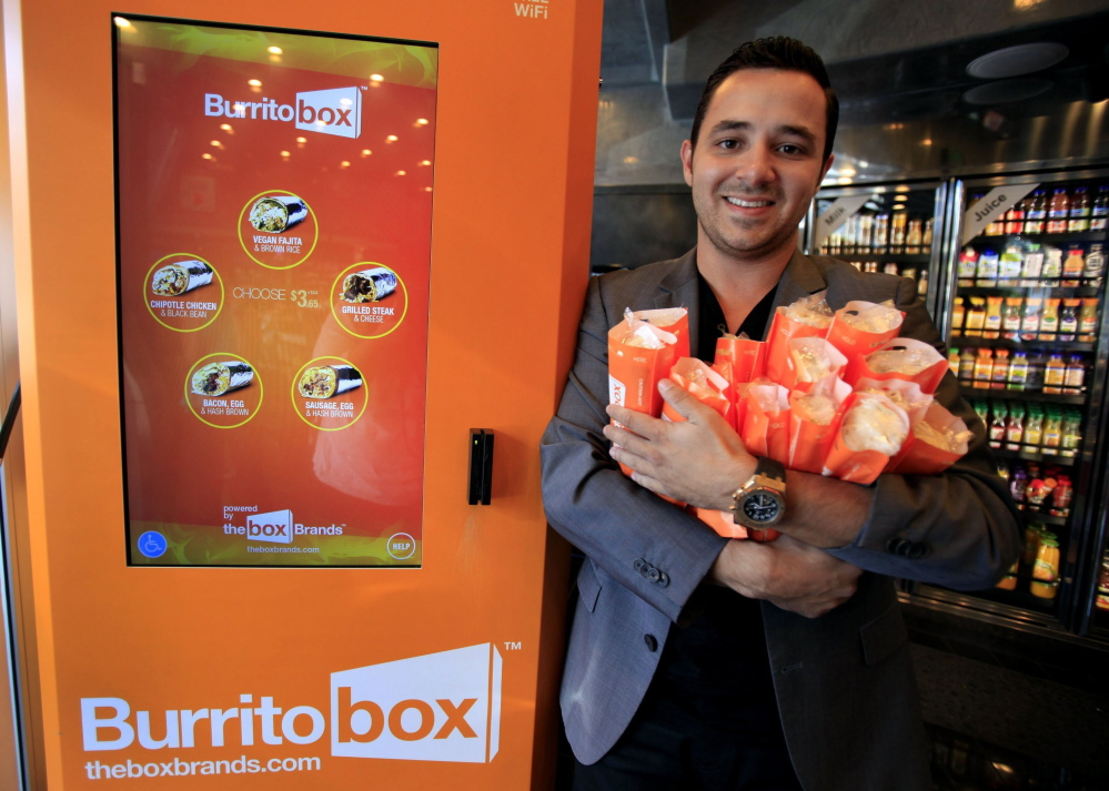 Denis Koci is co-founder and CEO of Burritobox, a machine that cooks and sells burritos for $3.65.
