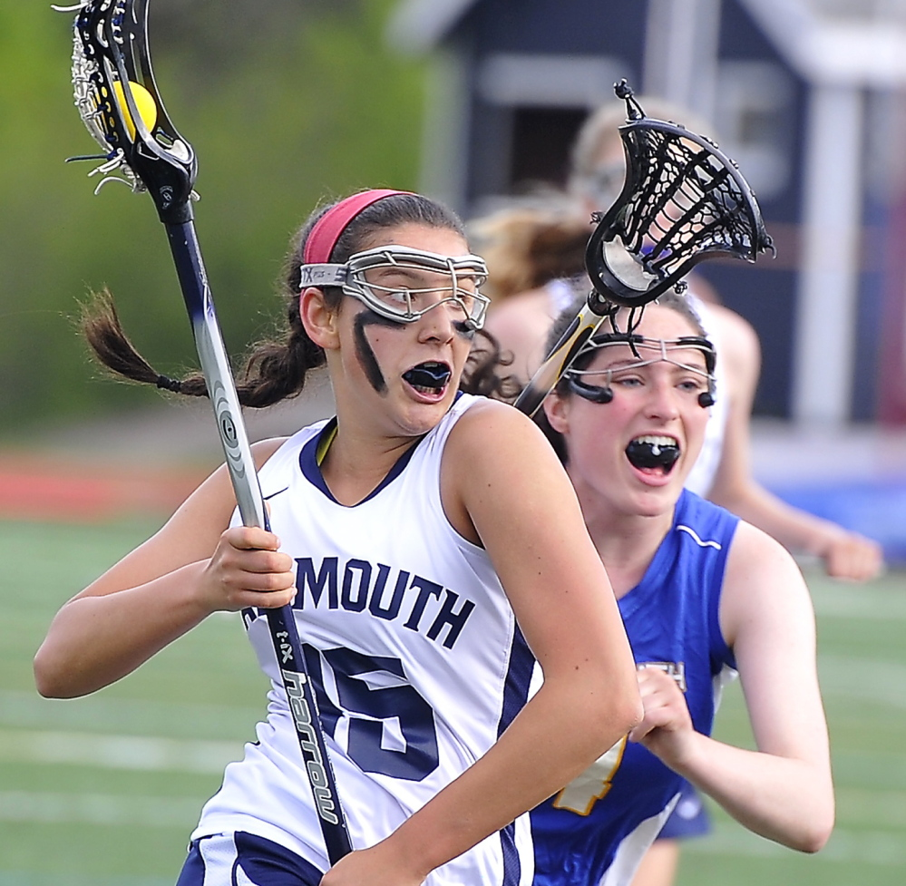After seeing her team fall short of a state championship her sophomore and junior years, Yarmouth's Grace O'Donnell was determined to end her high school career in style. Her six goals in the Class B final helped the Clippers earn a 13-10 victory.