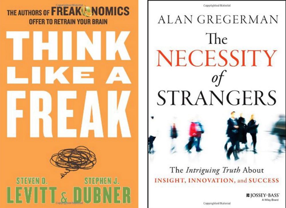 "From a list of 10 business books for your summer reading list: ""Uncontrolled,"" by Jim Manzi; ""Creative Confidence,"" by David Kelley and Tom Kelley; ""The Art of Choosing,"" by Sheena Iyengar; ""Think Like a Freak: The Authors of Freakonomics Offer to Retrain Your Brain,"" by Steven D. Levitt and Stephen J. Dubner; and ""The Necessity of Strangers,"" by Alan Gregerman. The Washington Post"