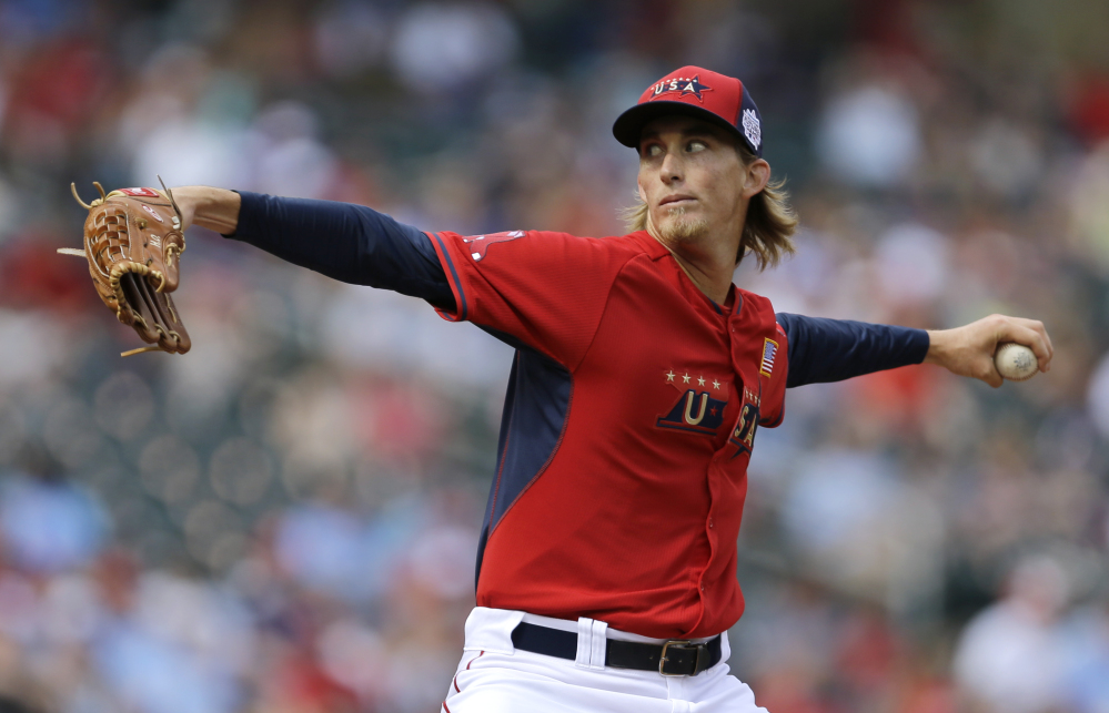 Portland Sea Dogs pitcher Henry Owens started and pitched one inning Sunday for the U.S. team at the All-Star Futures Game in Minneapolis. Owens allowed one hit and had one strikeout as the U.S. beat the World, 3-2.