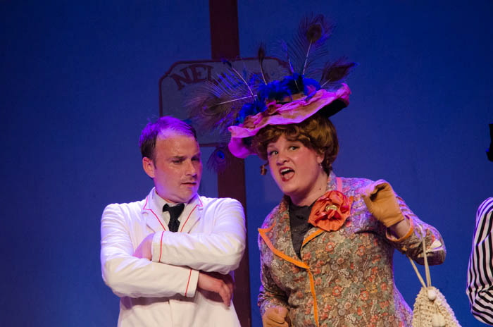 "Dan Clay as Harold Hill and Tanya West as Eulalie Shinn perform in ""Music Man."""