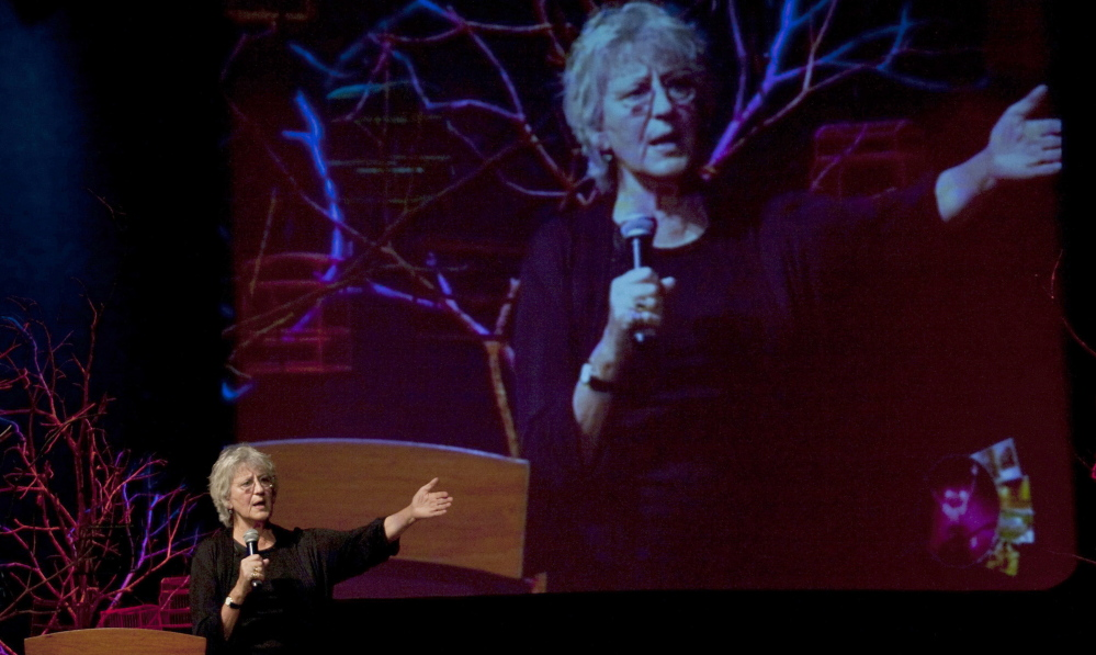 Australian writer Germaine Greer during a lecture at the Hay Literary Festival in Cartagena, Columbia, in 2011.